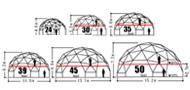 ドームハウスのタイプのイメージ